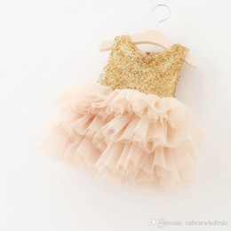 Spring And Summer Children New Party Dresses Girls Polyester Sequins Dresses With Lace Tutu Bow Dress Kid Clothing Girl Fashion Dresses