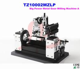 Wholesale Electroplated Mini Metal Gear Milling lathe Machine TZ10002MZLP Powerful Horizontal mini milling machine miller for soft matel wood