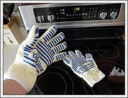Wholesale Ove Glove Microwave oven Glove Heat Resistant Cooking Heat Proof Oven Mitt Glove Hot Surface Handler
