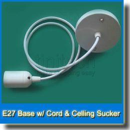 LED E27 Lamp Holder Socket Adapter Chandelier Lamp Converter Pendant Lamp Base w  Power Cable Cord