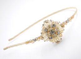 Women Crystal Floral Hair Accessories with Rhinestone New Fashion Handmade High Quality Headband for Girl Wholesale