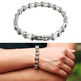 Wholesale Fashion Men s Bracelets Punk Style Machine Chain Titanium Steel Bracelet Male Link Bracelets Mens Accessories Sliver