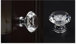 Jeu de bouton à vis en Ligne-Verre Cristal 30mm Diamond Cut Bouton de porte pour armoire Cabinet tiroirs Commode Armoire Avec vis Set