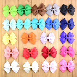Wholesale 550pcs in Summer Style Baby Ribbon Bows WITHOUT CLIP Color Girls Hair Boutique flower For Kids Head Beauty