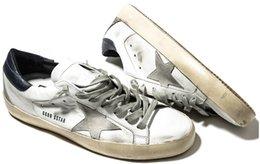 Wholesale New Golden Goose white New York Sneaker Worn Men Women Low Cut Shoes Sneakers size