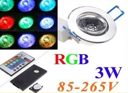 3W RGB LED Ceiling Light Lamp RGB Recessed led Spot light   Remote Control ceiling lamp rgb led ceiling light