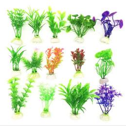 10pcs lot Vivid Plastic Aquarium Decorations Multicolor Artificial Plants Fish Tank Grass Flower Ornament Decor Landscape