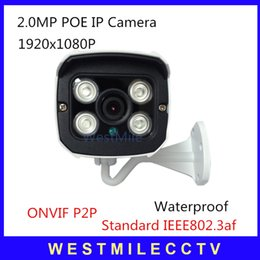 1080P POE IP Camera 2.0MP Waterproof Outdoor network security Home camera with P2P Onvif bracket Free shipping