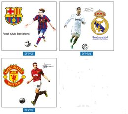 Wholesale Soccer Star Wall Sticker Football Wall Decal for Kids Boys Room Decoration DIY Wall Art Poster Wallpaper styles