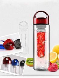 Wholesale 100pcs lot Juice bottle New Tritan Plastic Sports Water Bottle with fruit infuser BPA free juice cup,juice bottle fruit bottle