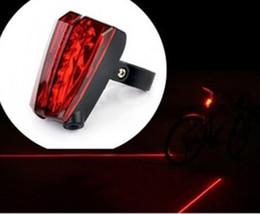 Bike Light Cycling Safety Led Lamp(2 Laser + 5 LED) Bike Laser Light Bicycle Rear Tail Light Free Shipping