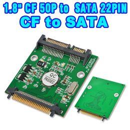 "Wholesale Cf Card Ide Adapter - 2015 50pin 1.8 micro IDE CF to SATA 22 Pin Adapter Compact Flash Type I II 50pin to 2.5"" 7+15 Pin SATA SSD HDD Converter Card"