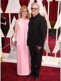 Wholesale 2015 Oscar Mark Mothersbaugh Anita Greenspan Red Carpet High Neck Celebrity Dress Pink Mother of Bride Dresses Evening Prom Party Dresses