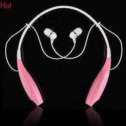 Universal Wireless Headphone Handfree Bluetooth Earphone Sport Headphone Pink Neckband Music Earphone Stereo Headset For Phones SV000246