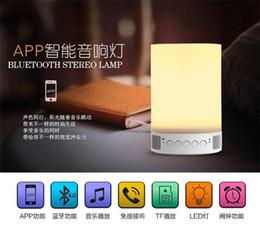 APP intelligent atmosphere lamp built in bluetooth speaker APP control smart sound with bluetooth 4.0 light speaker