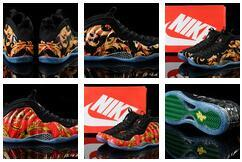 Wholesale 2016 penny hardaway Pure nike basketball shoes men University Red Dr Doom Blue Mirror foamposites basketball shoes sneakers foam Posite One