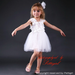 Pettigirl Hot Fluffy Baby Girls Lace Dresses Sleeveless Floral Tulle Dress For Wedding Party Kids Wear Girl Cute Dress GD80905-29