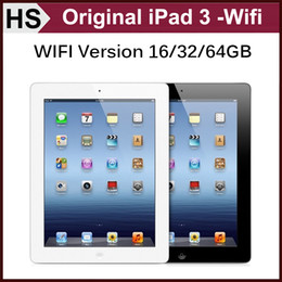 Wholesale Original Refurbished iPad G iOS A5X quot Apple Tablet iPad3 GB GB GB WIFI Warranty Retail Box Accessories White Black DHL