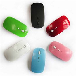 Wholesale Universal G colorful Wireless Ultra Thin Optical Mouse for Laptop Desktop Notebook USB Adapter Mouse Keyboard DHL