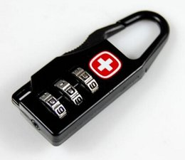 Wholesale Fashion Hot Alloy Swiss Cross Symbol Combination Code Number Lock Padlock For Luggage Zipper Bag Backpack Handbag Suitcase Drawer