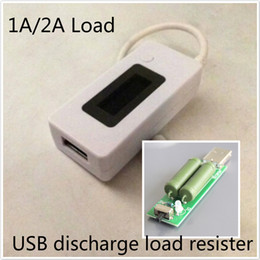 Wholesale LCD Screen Charger USB Tester Portable Monitor Power Bank Battery Detector Current Voltage Meter USB discharge load resistor