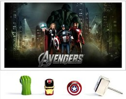 Wholesale 10pcs real capacity AVENGERS GB GB GB GB GB GB GB USB Flash Drive pen drive thumb drive Captain America Shield memory stick