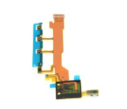 Wholesale original Side Buttons Keys Power ON OFF amp Volume amp Microphone Flex Cable Ribbon replacement for Xperia Z C6603 L36h