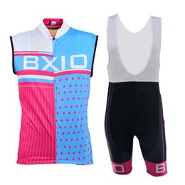 BXIO Sleeveless Cycling Jersey Full Zipper Pink Cycling Woman Clothing Sets Cyclist Outfit Kits Hot Sale BX-0309RB-013