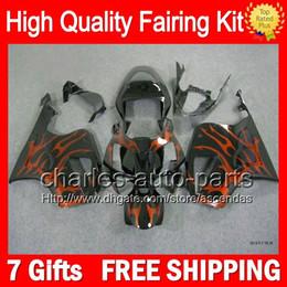 7gifts+Bodywork For HONDA VTR1000 RC51 SP1 Orange flames SP2 00-07 46LC48 VTR1000R RTV1000 2000 2001 2002 2003 07 NEW VTR 1000 Fairing Kit