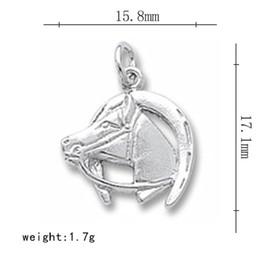 50pcs lucky horse head and horseshoe charm