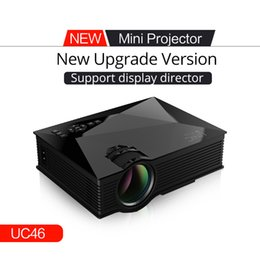 Wholesale DBPOWER UC46 Multimedia Lumens WiFi Wireless Portable LCD LED Home Theater Projector Support P With IR USB SD HDMI VGA
