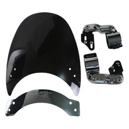 Motorcycle Windshield WindScreen For 2011-2014 Yamaha Stryker XVS1300 V Star 650 XVS650 V-Star Custom Bolt XVS950 R Spec Black
