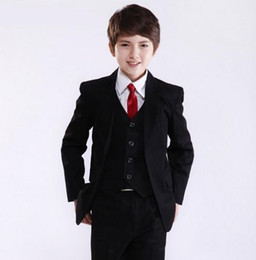Factory Price Hot Recommend Best Sale Boys Formal Occasion Tuxedos Wedding Kid Dress Suit (Jacket+Pants+Tie+Vest) NO:11
