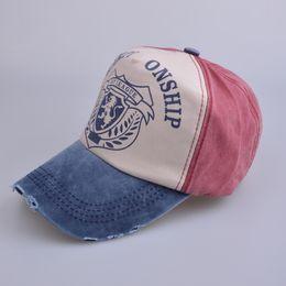Wholesale IGP League Letters Baseball Caps Fashion Snapbacks Vintage Denim Unisex Sun Hat Peaked cap For Men Women