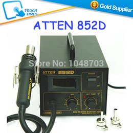 Wholesale-Free Shipping 220V ATTEN 852D SMD Rework Station Desoldering Station Hot Air Gun