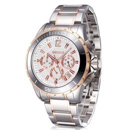 New Luxury Stainless Steel Men Watches Wrist Watches Waterproof Date Calendar Luminous Rose Gold Watches