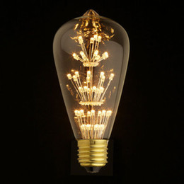 Wholesale Antique Retro Vintage Edison Light Bulb E27 V W Incandescent Light Bulbs ST64 A19 G95 led Cob Bulb Edison Lamps
