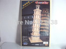 Wholesale-Wooden Miniature 3D Puzzle Building Educational Toys the Leaning Tower of Pisa Scale Models