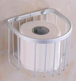 The new space aluminum bath shelf toilet paper towel box of towel rack toilet paper basket bathroom pendant