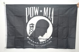 Wholesale American POW MIA flags YOU ARE NOT FORGOTTEN Flags feet cm Anti war Flags polyester American prisoners of war flags high quality