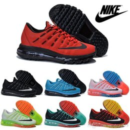 Discount Shoes Run Air Max Nike Air Max 2016 Flyknit Men's & Women's Running Shoes 100% Original New Product Hot Sale Breathable Outdoor Sneaker Free Shippi