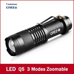 2017 Special Offer 2000lm Led Flashlights Hike Self Defense! Mini Flashlight Three Dimming Gifts Telescopic Zoom Led Lumens