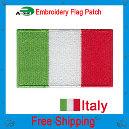 Wholesale italy Flag patch applique embroidery blossom Hot melt adhesive clothing patch accessories High Quality
