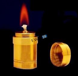 Wholesale 10ML Gold Silver Alcohol Lamp Portable Mini Alcohol Lamp Aluminum Light Lighting Cigarette Hookah Accessories Kit