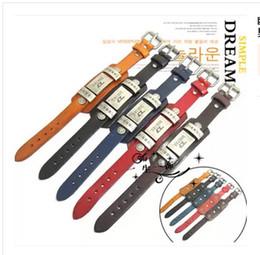 Wholesale-Fashion Men Woman Bracelets Rock Punk Leather Rock Cool Metal Stud Clasp Genunine Wrist Watch Design Leather Bracelet