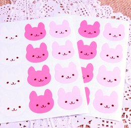 Wholesale x cm Lovely rabbit Seals Stickers sheet muffins cookies chocolates gift stickert ss