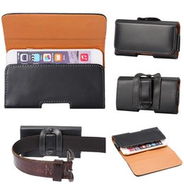 Wholesale Universal Smooth PU Leather Traverse Waist Pack Bag Belt Phone Case Cover Samsung Galaxy S4 S5 S6 Edge Plus Note Mega A3 A5 A7