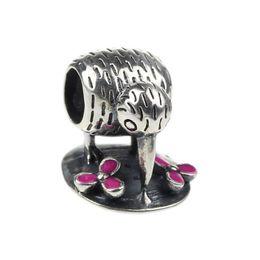 Wholesale Beads Hunter Jewelry Authentic Sterling Silver Kiwi Bird Charm fashion jewel mm big hole bead For mm European Bracelet snake chain