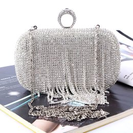 Factory direct Retaill Wholesale handmade unique crystal evening bag clutch with satin PU for wedding banquet party porm(more colors)