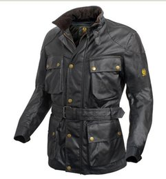 Descuento chaquetas de los hombres de cera La chaqueta impermeable de la caída-manera hombres trialmaster leyó la chaqueta encerada i es la leyenda roadmaster enceró la chaqueta de algodón G2